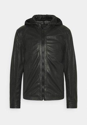 FANE - Kožená bunda - black
