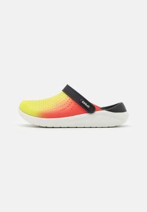 LITERIDE COLOR DIP UNISEX - Sandalias planas - lime punch/scarlet/almost white