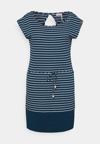 SOHO STRIPE - Žerzejové šaty - navy