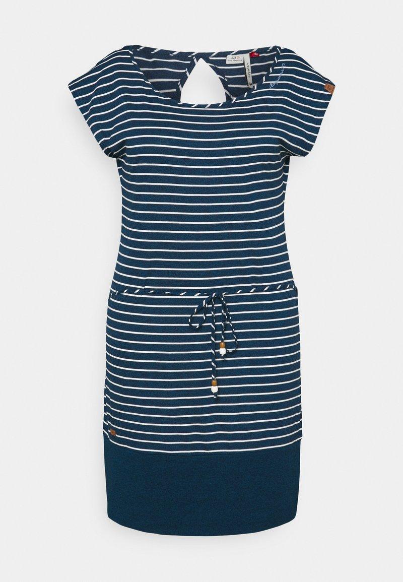 Ragwear Plus - SOHO STRIPE - Žerzejové šaty - navy