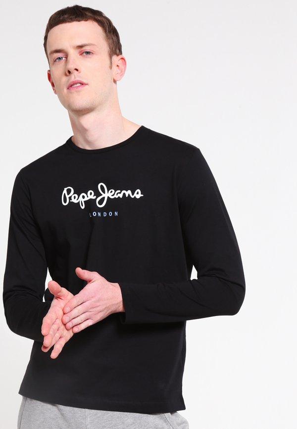 Pepe Jeans EGGO LONG - Bluzka z długim rękawem - black/czarny Odzież Męska PZYD