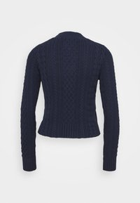 Tommy Jeans - BRANDED NECK CABLE - Pullover - twilight navy - 7