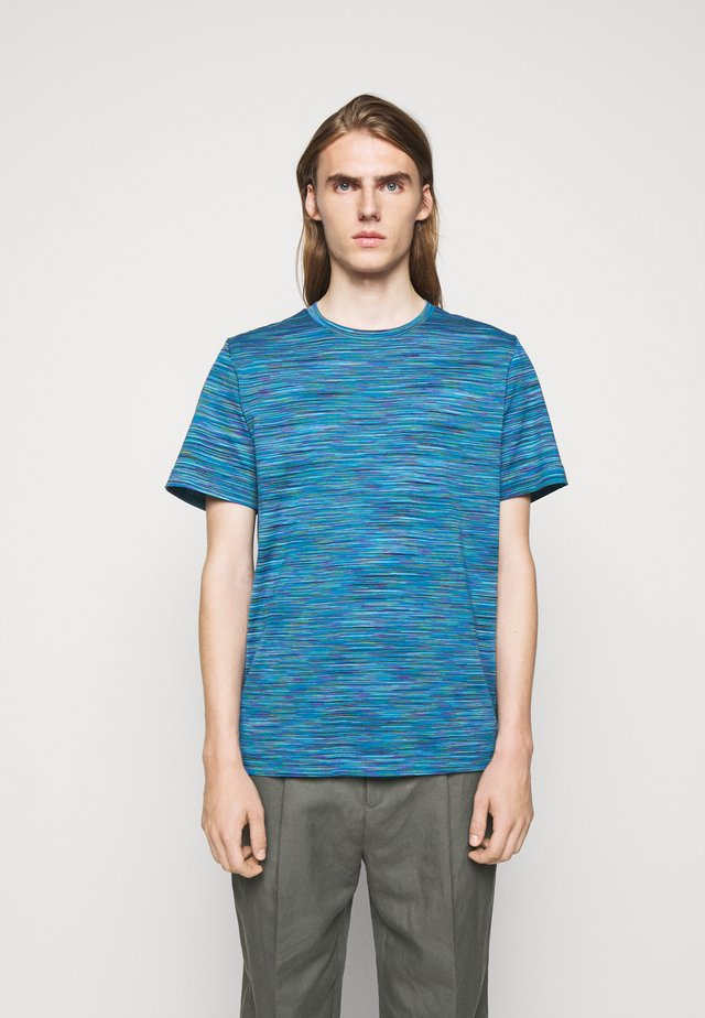 SHORT SLEEVE - T-shirts med print - blue