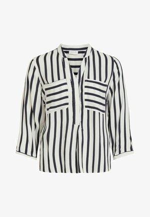 MIT V-AUSSCHNITT TASCHEN - T-shirt à manches longues - snow white