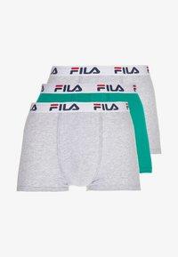Fila - 3 PACK TRUNK - Shorty - green bottle/grey - 3