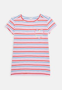J.CREW - ISA TEE WITH HEART - Triko spotiskem - red orchid multi - 0
