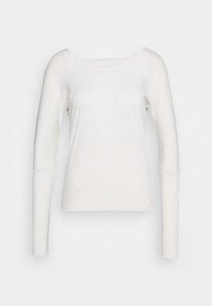 DRAPEY V BACK - Long sleeved top - ivory
