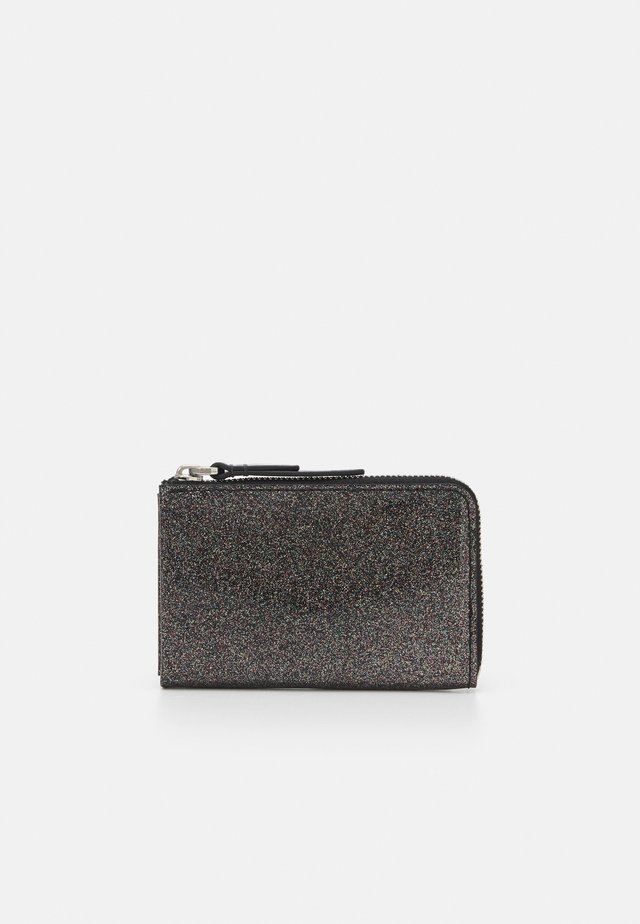 ZIP AROUND CARD CASE - Monedero - black/multi