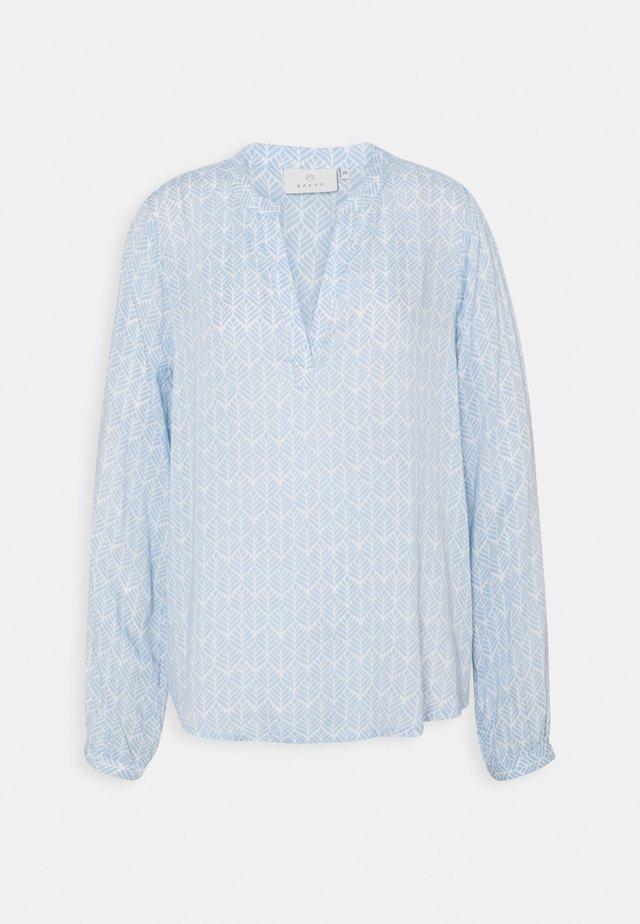 FANA TILLY BLOUSE - Langærmede T-shirts - blue/chalk