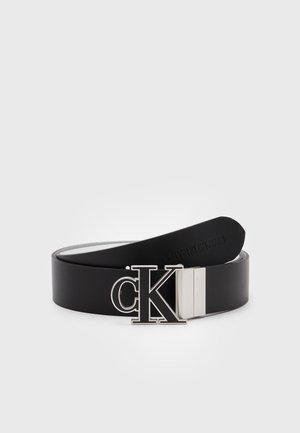 MONO HARDWARE BELT - Belt - black/bright white