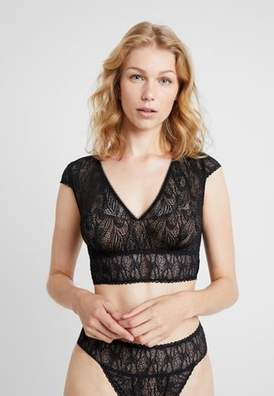 KARMA CROPPED WITH CAP SHOULDERS - Bustier - black