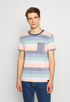 TEE WITH INSIDE PRINTED STRIPE - Triko s potiskem - multicolor