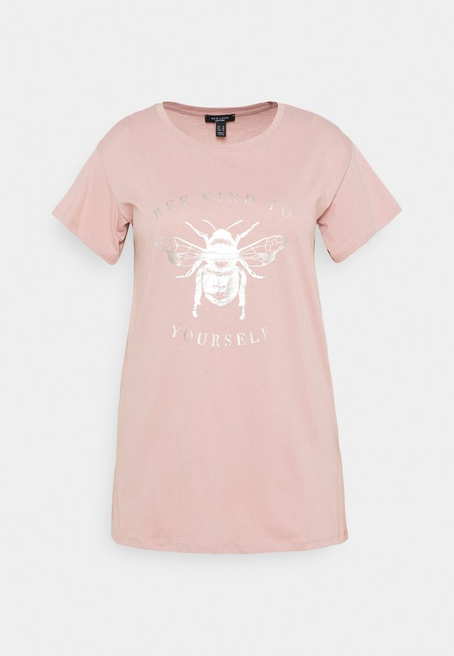 BE KIND TO YOURSELF FOIL - Print T-shirt - mid pink