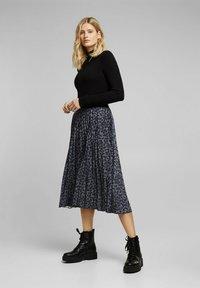 Esprit - A-line skirt - gunmetal - 3