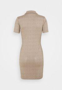 Missguided - BUTTON PLACKET MINI DRESS - Shift dress - brown - 1