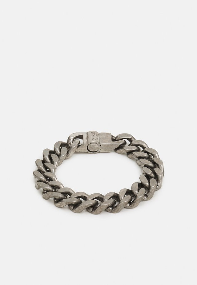 CURB UNISEX - Náramek - antique silver-coloured shiny