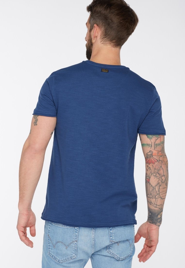 Petrol Industries Print T-shirt - royal blue hZcpZ