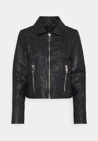 Vero Moda - VMMAPEL SHORT JACKET - Leather jacket - black - 4