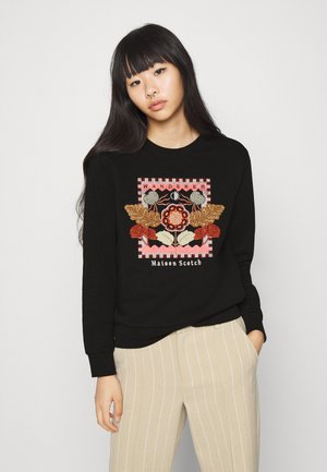 CREWNECK EMBROIDERED ARTWORK - Bluza - black