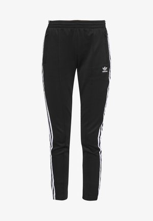 SUPERSTAR SUPER GIRL ADICOLOR TRACK PANTS - Spodnie treningowe - black/white