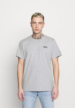 REGULAR CORP LOGO CNECK - Basic T-shirt - grey heather