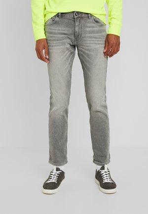 JOSH - Straight leg jeans - used light stone grey denim