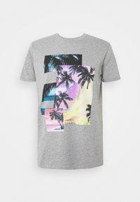 edc by Esprit - Print T-shirt - mottled grey - 4