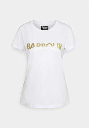 DELTA TEE - Print T-shirt - white