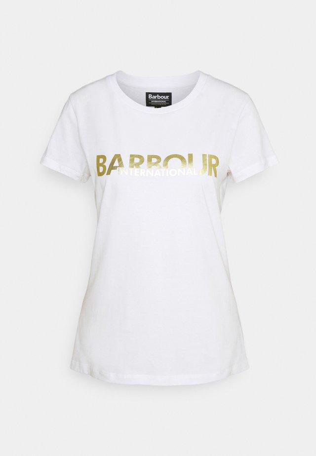 DELTA TEE - T-shirt print - white