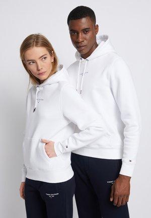 LOGO HOODIE - Bluza z kapturem - white