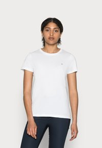 Tommy Hilfiger - HERITAGE CREW NECK TEE - T-shirt basic - classic white - 0