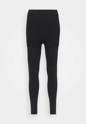 LUXE LAYERED 7/8 - Leggings - black/dark smoke grey