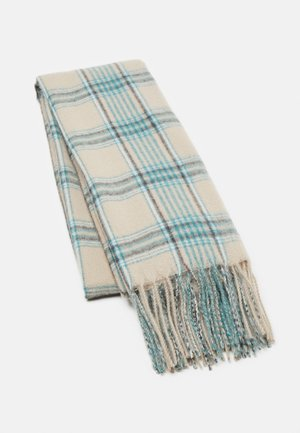 Scarf - camel/off-white/green