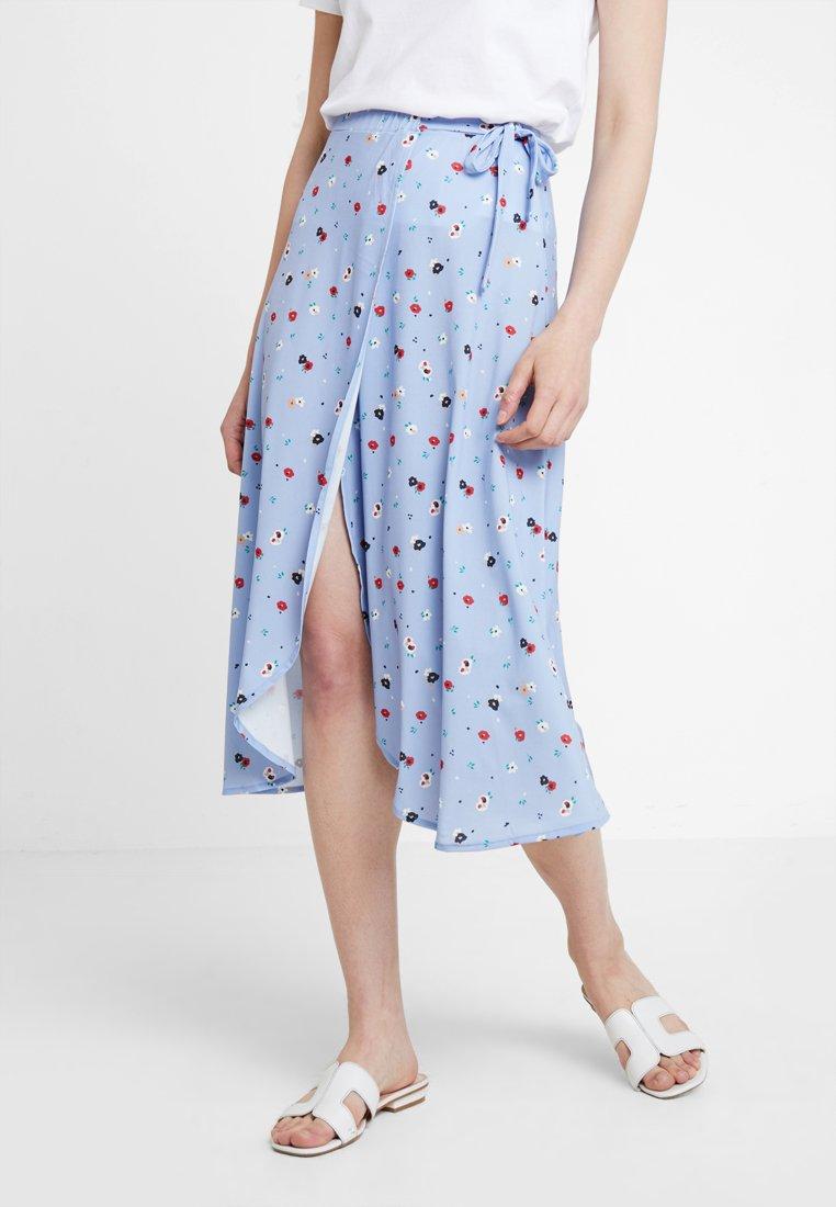 mint&berry - Wrap skirt - light blue