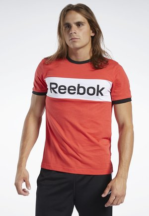TRAINING ESSENTIALS LINEAR LOGO TEE - Print T-shirt - red