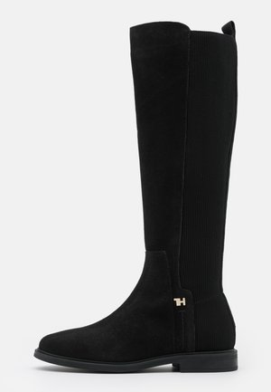 ESSENTIAL FLAT LONG BOOT - Stiefel - black