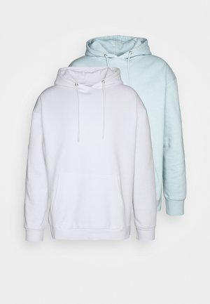 2 PACK - Hættetrøjer - white/light blue