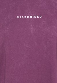 Missguided Tall - WASHED DROPPED SHOULDER TEE - Blůza - wine - 2