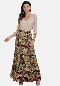 usha - ROCK - Maxi skirt - flower print - 1