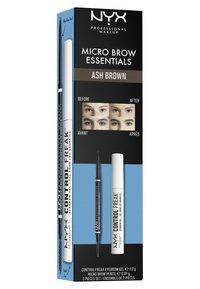 Nyx Professional Makeup - MICRO BROW ESSENTIALS – MIRCRO BROW PENCIL - Makeup set - ash brown - 5
