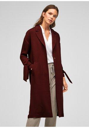 Short coat - dark red