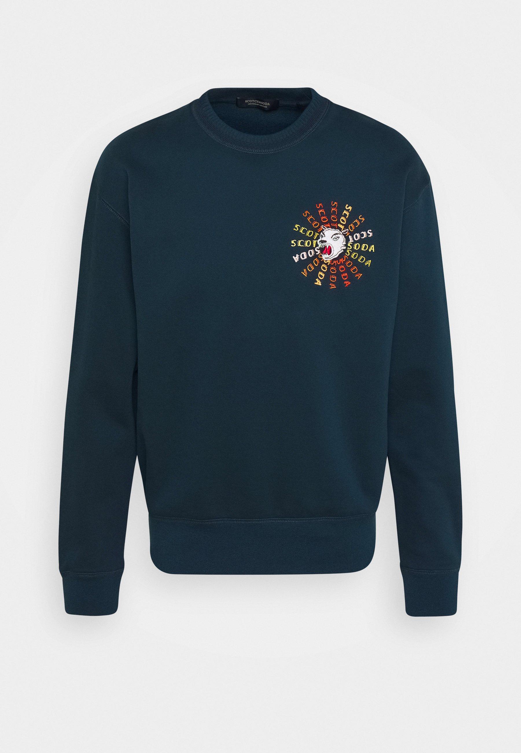 Men CREWNECK  WITH ARTWORK IN MIXED TECHNIQUES - Sweatshirt