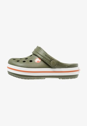 CROCBAND - Sandály do bazénu - army green/burnt sienna