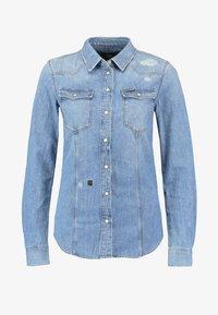 G-Star - 3301 SHIRT WMN L\S - Button-down blouse - medium aged restored 138 - 3
