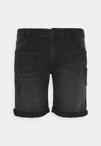 URBN SAINT - USOLSSON DESTROY - Denim shorts - sbit black - 0