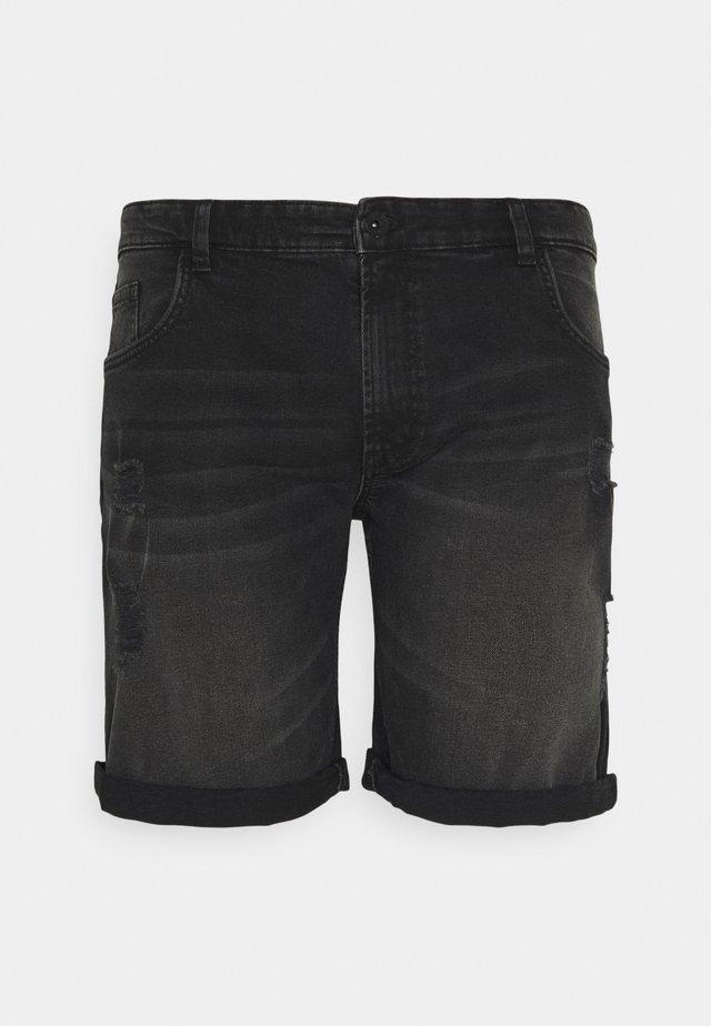 USOLSSON DESTROY - Shorts di jeans - sbit black