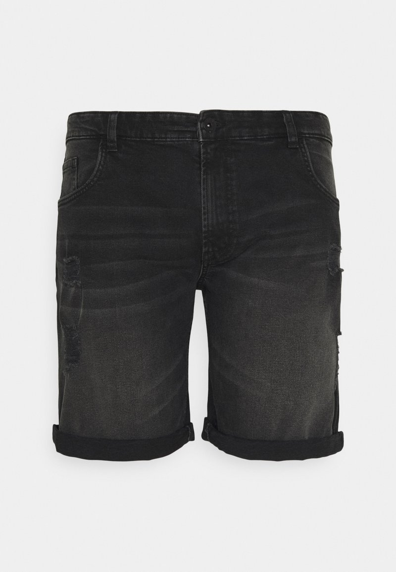 URBN SAINT - USOLSSON DESTROY - Denim shorts - sbit black