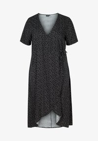 Zizzi - SHORT-SLEEVED WRAP - Day dress - black - 3