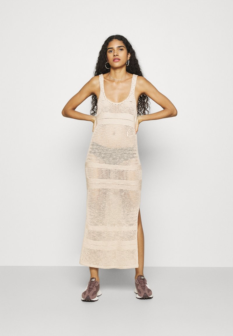 Abercrombie & Fitch - BARE - Jumper dress - cement