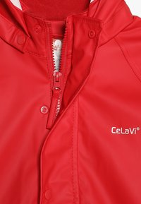CeLaVi - BASIC RAINWEAR SUIT SOLID - Pantalones impermeables - red - 4
